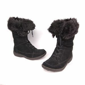 70577016605d Sam Edelman. Sam Edelman     Madison Black Fur Suede Boots